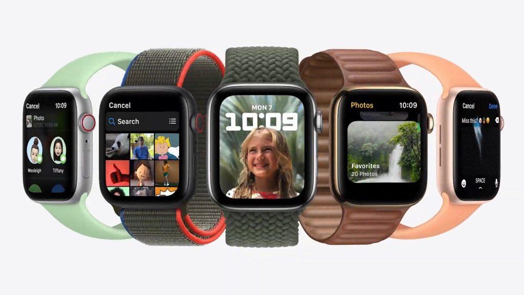 Apple Watch ที่มีภาพหน้าจอใหม่ใน watchOS 8